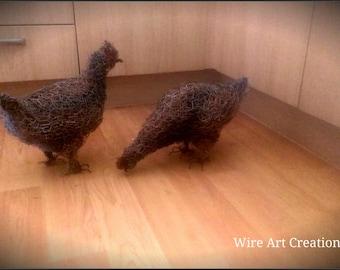 Handmade wire Hen.