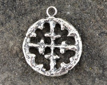 Sterling Silver Cross - Cross Pendant - Antique Cross - Old Cross - Viking Pendant - Religious Necklace - Religious Jewelry - Cross Charm