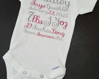 Birth Stats Bodysuit