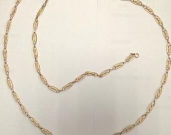 Necklace gold 18 k vintage year 20, 72cm long, 18 k gold