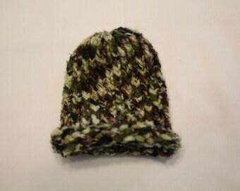 Camouflage Handmade Baby Winter Hat