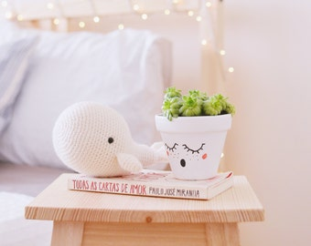White Whale . Stuffed Animal Plushie Crochet Amigurumi . Decor . Kids Decor . Kids Toys