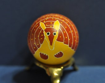 Armadillo Egg, Ukrainian Style, Pysanky, Pysanky, Egg Art, Easter, Wax Resist