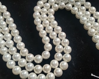 10MM Off White Shell Pearl Round Beads, good for designing ,