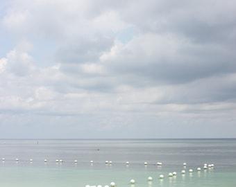 seascape photo download, seashore image instant download, white beach, blue sea, seascape digital download, buoy sea image, instant download