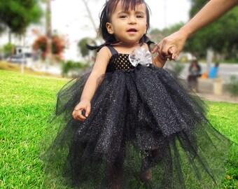 Glittery black tutu dress set!