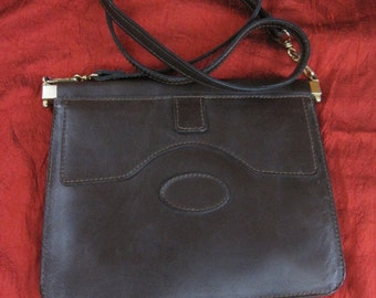 Vintage 60's brown leather bag