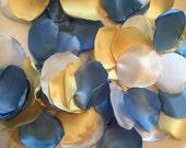 Blue Rose Petals/Bridal Petals/Barn Wedding Decor/Blue Wedding Decor/Yellow Rose Petals/Yellow Wedding Decor/Rose Petals/Artificial Petals