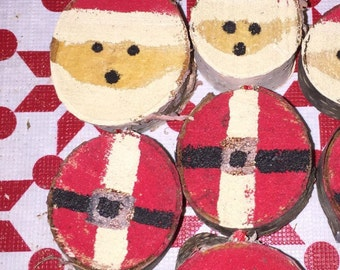 Santa Claus is Coming to Town Rustic Wooden Ornament