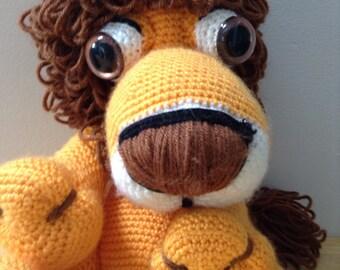 Free shipping Crochet Lion plushie plush toy vegan washable amigurumi