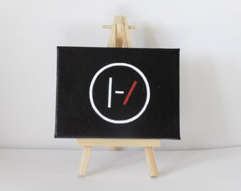 Twenty One Pilots Hand Painted Symbol/Logo Acrylic Painting | Gift for Her, Gift for Him, Birthday Gift & Gift for Teens