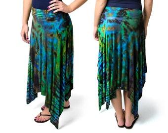 Tie Dye Fairy Skirt - Blue-Green Multi - 2269B