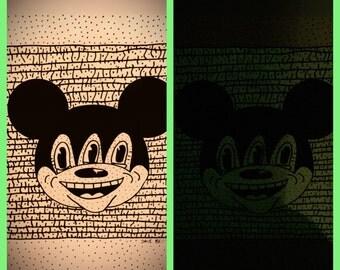 Mickeyes (glow in the dark screenprint)