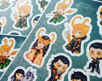 Chibi Loki stickers