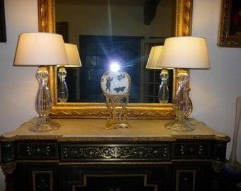 Pair of lamps Murano vetreria Mazzuccato design Mario Pippolini