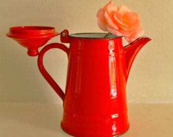 Vintage Enamel Coffee Pot from former Yugoslavia