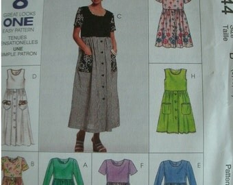 McCall's Sewing Pattern 8744, Misses Dress, Size B (8, 10, 12)