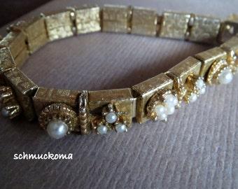 Golden dream vintage bracelet-60-er years-zarter bracelet with small art beads