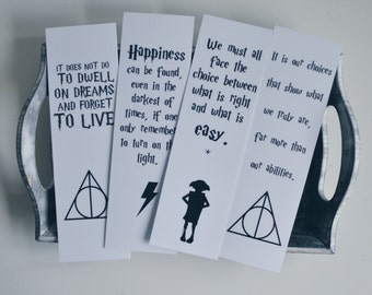Harry Potter quotes bookmarks