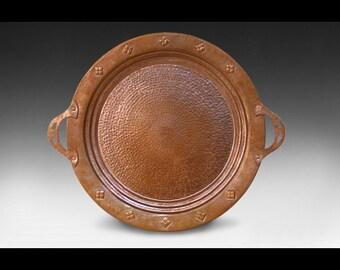 Commemorative Arts & Crafts Copper Tray