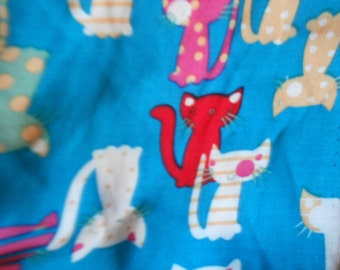 cats print scarf