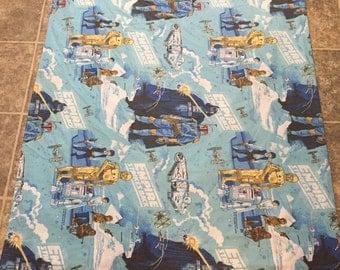 70's vintage starwars bed sheet flat sheets
