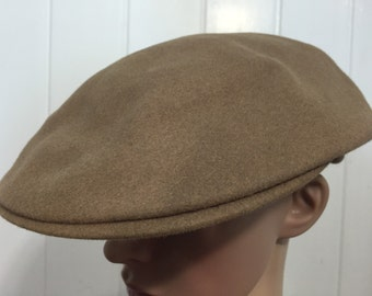 60's euro vintage wool newsboy cap made in england vintage hat