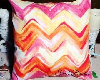 Designer Print Beach Pillow Covers Ocean Seaside Cabana Resort Patio Decor
