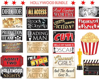 Hollywood Props | Hollywood Signs | Photo Booth Props | Prop Signs