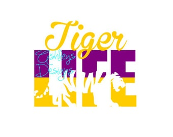 LSU Tiger Life SVG File