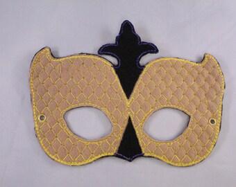 Mardi Gras Embroidered Mask