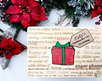 Christmas Eve box, Personalised  Christmas Eve box, Wooden Christmas Eve box, First Christmas, Babys 1st Christmas .