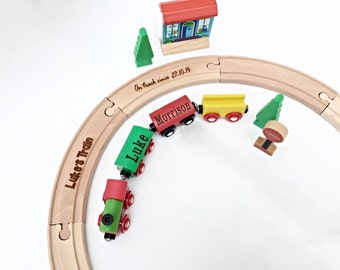 Wooden train, Toy train, personalised wooden train,First birthday gift , Christening gift, Baptism gift, Page boy gift,
