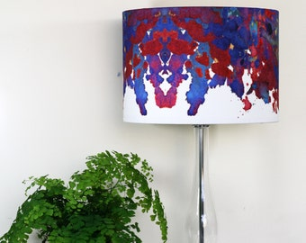 Abstract Lampshade Pendant or Lamp Coral Dissect Print by Evelle Home