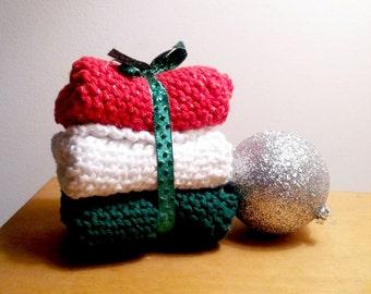 Set of 3 Holiday Cotton Dish Cloths