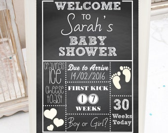 Personalized Printable Baby Shower Sign - Welcome Sign - Baby Shower Decorations - Boy Girl-  DESIGN 053