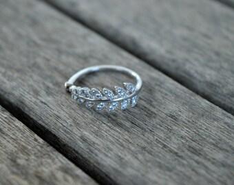 Shiny Leaf Ring / / Ring shiny sheet