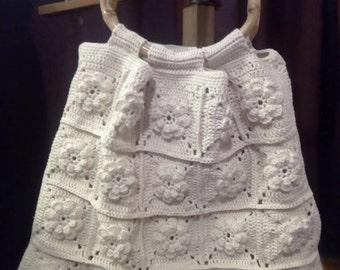 Summer crochet handbag
