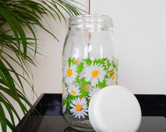 1960s Daisy Storage Jar