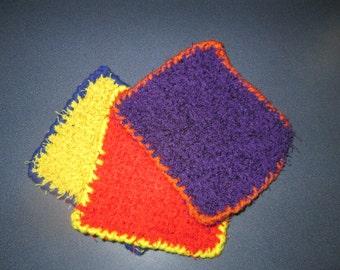 Colorful Scrubby Dishcloth