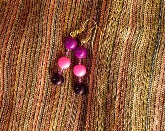 Fun pink purple earrings!