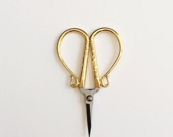 Gold Embroidery Scissors/Cross Stitch Scissors/Sewing Scissors/Decorative Scissors/Small Scissors/Engraved Scissors