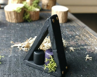 Miniature Candle Shelf - Doll House Furniture - Gothic Decor - Doll House Miniatures - Gothic Miniature - Doll Accessory
