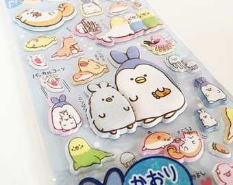 Scented Cute Kawaii Puffy Sealife Stickers