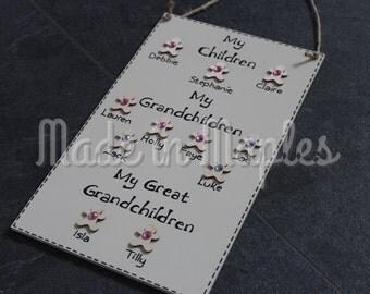 My Children / Grandchildren / Great Grandchildren Sign