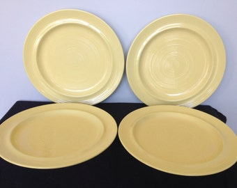 Set of 4 Furio Yellow Dinner Plates