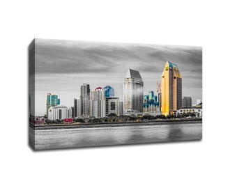 San Diego Touch of Color Skylines Canvas
