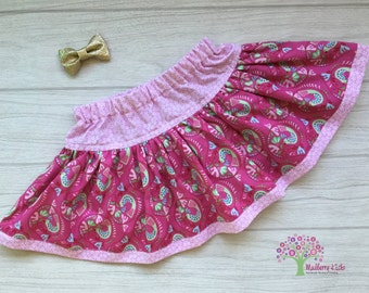 Twirly Skirt - Pink Birds