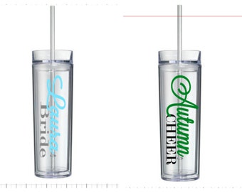 Personalized 16 oz Skinny Tumblers!