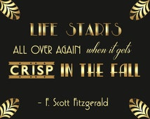 Gatsby quote - wedding sign - Black and gold wedding - Great gatsby wedding - F scott fitzgerald